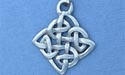 "Knot of Transformation Lead Free Pewter Small Pendant c/w 18"" Chain"