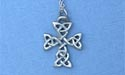"Cross of Clarity Lead Free Pewter Small Pendant c/w 18"" Chain"