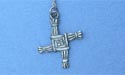 "Saint Brigid's Cross Lead Free Pewter Small Pendant c/w 18"" Chain"