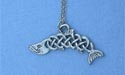 "Fintan the Salmon Lead Free Pewter Small Pendant c/w 18"" Chain"