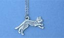 "Celtic Cat Small Lead Free Pewter Small Pendant c/w 18"" Chain"