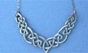 "Original Endless Interlace Lead Free Pewter Small Pendant c/w 16"" Split Chain"