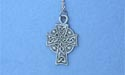 "Meditation Cross Lead Free Pewter Small Pendant c/w 18"" Chain"