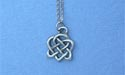 "Magic Knot Lead Free Pewter Small Pendant c/w 18"" Chain"