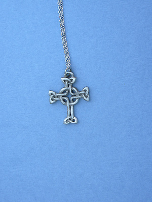 "Lendlefoot Cross Lead Free Pewter Small Pendant c/w 18"" Chain"