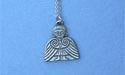 "Clonmacnoise Angel Lead Free Pewter Small Pendant c/w 18"" Chain"