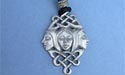 Brighid / Triple Goddess Lead Free Pewter Medium Pendant c/w Cord
