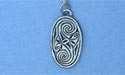 "Friendship Oval Lead Free Pewter Small Pendant c/w 18"" Chain"