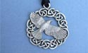 The Morrigan / Raven Lead Free Pewter Medium Pendant c/w Cord