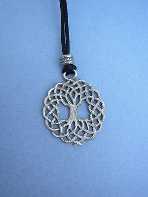 Tree of Life Lead Free Pewter Medium Pendant c/w Cord