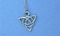 "Celtic Charm Lead Free Pewter Small Pendant c/w 18"" Chain"