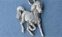 "Frisky Foal Lead Free Pewter Small Pendant c/w 18"" Chain"