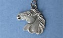 "Horse Head - Lead Free Pewter Pendant c/w 18"" Chain"
