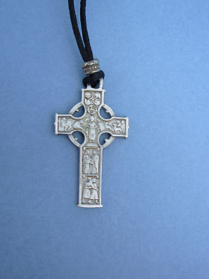 Brotherhood Cross Lead Free Pewter Medium Pendant c/w Cord