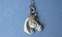 "Horse Head Lead Free Pewter Pendant c/w 18"" Chain"