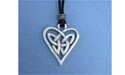 Triquetra Heart Lead Free Pewter Medium Pendant c/w Cord