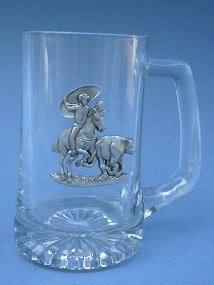 Rodeo Beer Mug - Lead Free Pewter