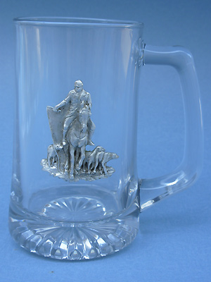 Hunter /Dogs Beer Mug - Lead Free Pewter