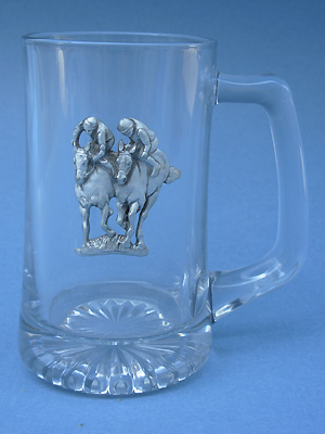 Jockey Double Beer Mug - Lead Free Pewter
