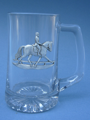 Classic Dressage Beer Mug - Lead Free Pewter