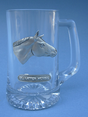 Quarter horse Beer Mug - Lead Free Pewter