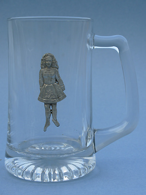 Irish Dancer Beer Mug - Lead Free Pewter