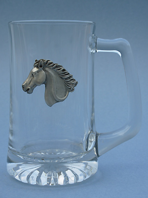 Horse Head Beer Mug - Lead Free Pewter