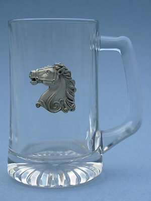 Carousel Horse Beer Mug - Lead Free Pewter