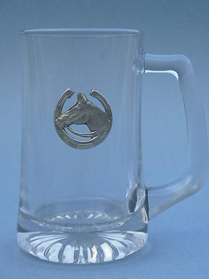 Horse Head /Shoe Beer Mug - Lead Free Pewter