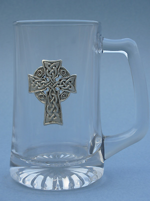 Meditation Cross Beer Mug - Lead Free Pewter