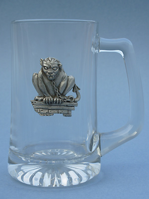 Gargoyle w/ Chain Beer Mug - Lead Free Pewter