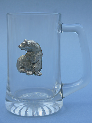 Sitting Polar Bear Beer Mug - Lead Free Pewter