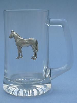 Standing Horse Beer Mug - Lead Free Pewter