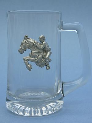 Jumping Horse Beer Mug - Lead Free Pewter