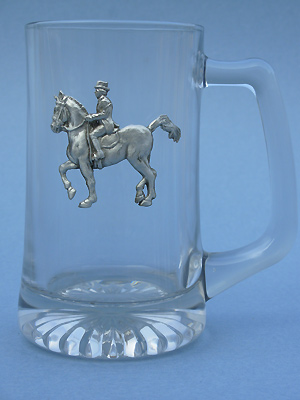 Dressage Beer Mug - Lead Free Pewter
