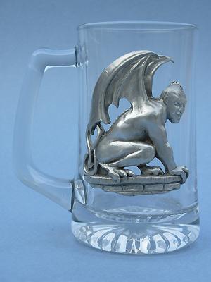 Lg. Gargoyle Beer Mug - Lead Free Pewter