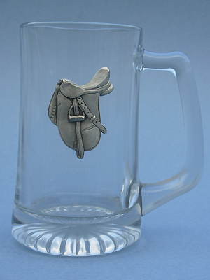 English Saddle Beer Mug - Lead Free Pewter