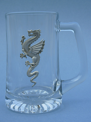 Dragon Beer Mug - Lead Free Pewter