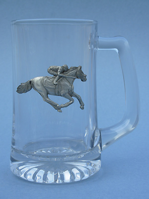 Single Jockey Beer Mug - Lead Free Pewter