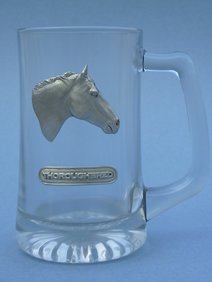 Thoroughbred Beer Mug - Lead Free Pewter