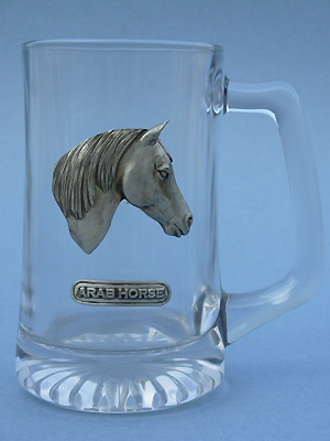 Arab Horse Beer Mug - Lead Free Pewter