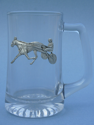 Sulky & Rider Beer Mug - Lead Free Pewter
