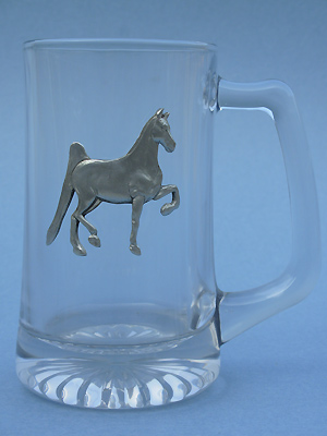 American Saddlebred Beer Mug - Lead Free Pewter