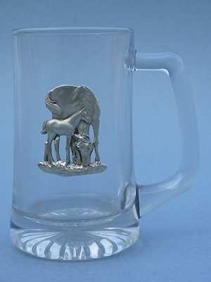 Mare & Colt Beer Mug - Lead Free Pewter