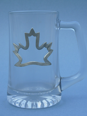 Open Maple Leaf Beer Mug - Lead Free Pewter