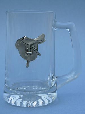 New English Saddle Beer Mug - Lead Free Pewter