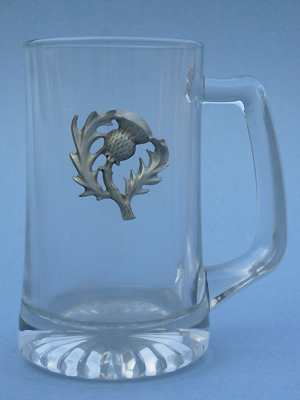 Thistle Beer Mug - Lead Free Pewter