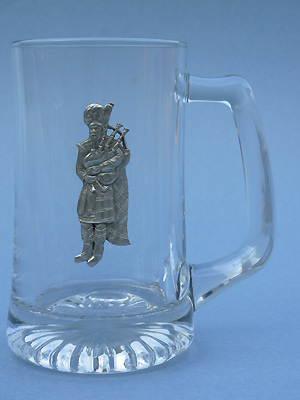 Standing Piper Beer Mug - Lead Free Pewter