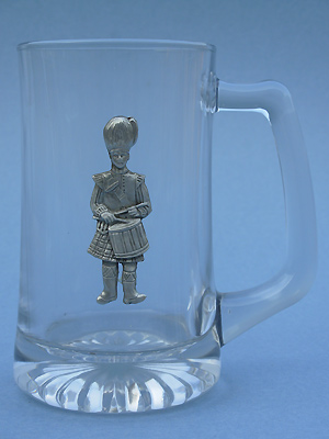 Scottish Drummer Beer Mug - Lead Free Pewter