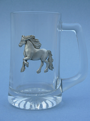 Friesian Horse Beer Mug - Lead Free Pewter